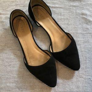 J Crew black suede d'Orsay shoes 8.5